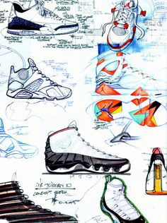 tinker hatfield sketches - Google Search