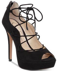 Jessica Simpson Baylinn Ankle Lace-Up Platform Pumps