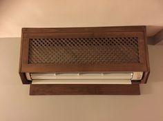 Here is a nice looking solid wood cover for your indoor Ductless unit.