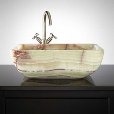 Ashgrove Green Onyx Vessel Sink *** (good colors, size and shape)