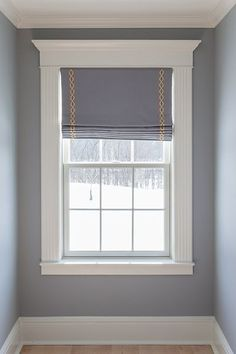 17 Window Treatment Ideas for Every Room in Your Home Custom Window Treatment Solutions - roman shade with trim - provided by Sheffield Furniture & Interiors (PA, MD, VA) Interior, Interior Windows, Home, Custom Window Treatments, Windows And Doors, House Interior, Moldings And Trim, Diy Window, Interior Window Trim