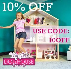 10% OFF ORDERS dollie and my girls 18 inch dollhouse for american girl dolls