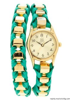 turquoise   gold watch  Repin & Follow my pins for a FOLLOWBACK!