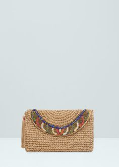 Borsa a busta perline decorative | MANGO