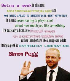 Simon Pegg rocks.
