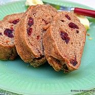 Brown Sugar Cranberry Whole Wheat Peasant Bread... I must try!