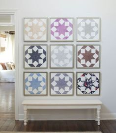 Quilt Block Gallery Wall