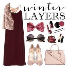 """Winter Layers: Slip Dress"" by zulfastley ❤ liked on Polyvore featuring TIBI, BKE, Semilla, Michael Kors, women's clothing, women's fashion, women, female, woman and misses"