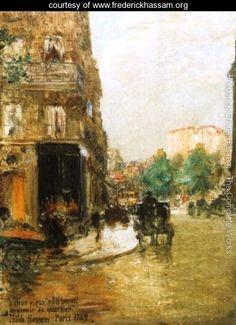 Paris Street Scene I - Frederick Childe Hassam -