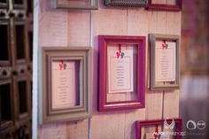 14. Fuchsia Wedding,Table plan,Frames / Wesele fuksjowe,Tablica z rozsadzeniem gości,Ramki,Anioły Przyjęć