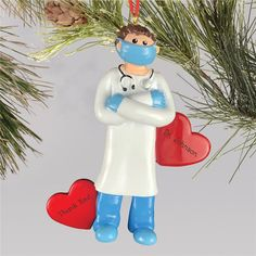 Show the doctor in your life how thankful you are for all their hard work this year with a personalized ornament saying thank you! #doctorgifts #personalizedornaments #2020ornaments #doctorornaments Personalized Christmas Ornaments, Christmas Tree Ornaments, Word Art Design, Photo Ornaments, Doctor Gifts, Perfect Christmas Gifts, Personalized Gifts, Hard Work, Thankful