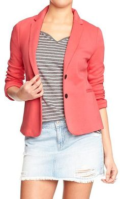 Old Navy Women's Fitted Jersey Blazers on shopstyle.com
