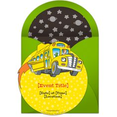 Customizable, free Magic School Bus | Space online invitations. Easy to personalize and send for a Magic School Bus birthday party.
