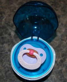 A pacifier sterilizer that you can keep with you in your diaper bag.
