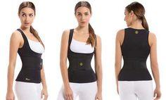 image for Women's Waist Trainer Belt with Bonus Thermal Camisole Vest