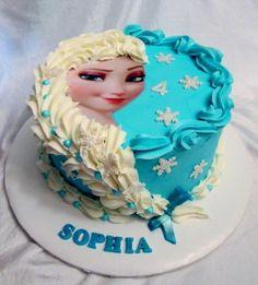 Frozen Elsa - Cake by Christeena Dinehart
