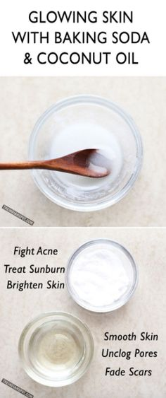 Glowing skin with Baking Soda and Coconut Oil Face Wash – Toned
