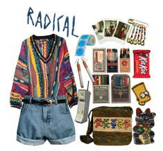 """colourful trash boy"" by flowersofflesh ❤ liked on Polyvore featuring COOGI, Retrò and Fujifilm"