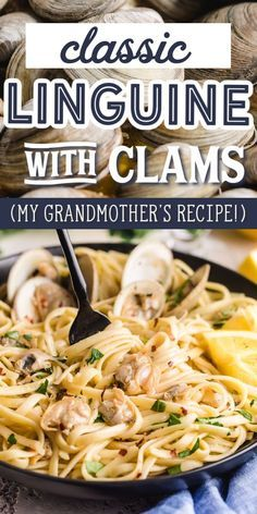 Linguine Recipes, Seafood Pasta Recipes, Seafood Dishes, Pasta Meals, Shellfish Recipes, Clam Recipes, Dinner Recipes, Cooking Recipes, Noddle Recipes