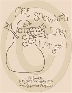New pattern for 2014 Fat Snowman EPattern by MySpareTimeDesigns2 on Etsy, $1.99 #www.mysparetimedesigns.com