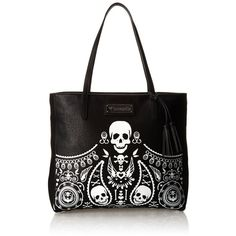 Women s Top-Handle Handbags - Loungefly Embossed Bandana Tote Tassels  Shoulder BagBlackOne Size    Click image for more details. 5a1b08c8427d3