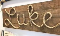 Nautical Nursery Wall Décor Simple DIY Rope Name Sign is part of Nautical Nursery Wall Decor Simple Diy Rope Name Sign This Nautical Nursery Wall Art is simple enough for anyone to create! Nautical Nursery Decor, Nursery Wall Decor, Coastal Decor, Nautical Kitchen, Bedroom Wall, Summer Deco, Nifty Diy, Deco Marine, Name Wall Decor