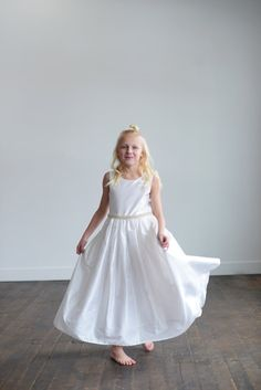 3b870ae576a Diamante Ivory lace flower girl dress lace first communion