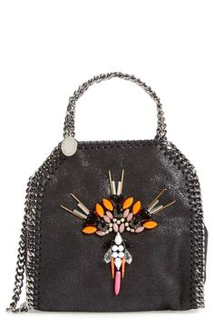 bac3d98aea9 Stella McCartney  Mini Falabella  Embellished Faux Leather Crossbody Bag  available at  Nordstrom Mini
