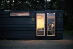 Designed to be virtually indestructible, the True Studio is a tiny home developed by Oregon-based Modern Dwellings that features heated floors, smart home controls, and an incinerating toilet. Container Homes For Sale, Shipping Container Homes, Container Shop, Container Gardening, Incinerating Toilet, Best Tiny House, Radiant Floor, Tiny House Listings, Green Architecture