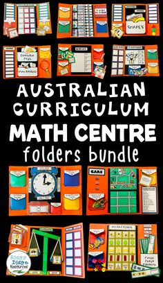 Australian Curriculum aligned Math Centre Folders - ready to print for your math centres!
