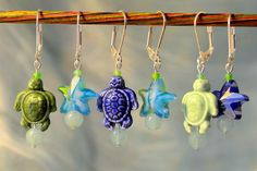 Aha! Stitch markers that double as cute earrings! Nice little gift. (Ocho Rios Crochet Stitch Markers by LittleKnittyBird on Etsy)