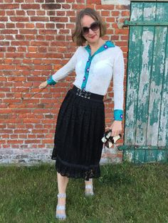 How to Style lace: black & white | Oceanblue Style ~ fashionblog over 40 ~elegance & ease
