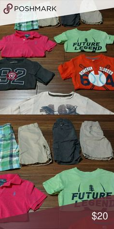 Kids lot Kids lot all size 5 to 6 different brands all gently used. 2 long sleeve 3 short sleeve 4 shorts. OshKosh B'gosh Shirts & Tops
