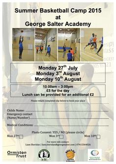 Summer Sport at Salter's!  This summer we are running a variety of sports camps for Year 6 - 10 pupils. This is a great opportunity for young people to keep active over the long summer break with specific badminton, netball and basketball camps as well as a multisport camp.  Forms & money need to be returned to George Salter reception prior to the camps start date.  For more information please contact community@georgesalter.com