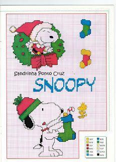 Snoopy Christmas x-stitch Xmas Cross Stitch, Cross Stitch Boards, Cross Stitching, Cross Stitch Embroidery, Snoopy Christmas, Christmas Cross, Cross Stitch Designs, Cross Stitch Patterns, Stitch Cartoon