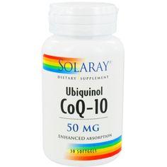 Ubiquinol CoQ-10 de Solaray es un complemento nutricional de alta absorción que actúa como un potente antioxidante y esta implicado en la producción de energía en el organismo.