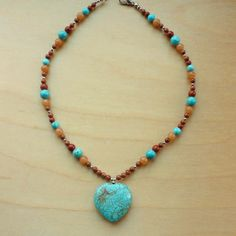 Every Morning Design Heart of the West Turquoise Heart Necklace | Overstock.com Shopping - The Best Prices on Necklaces
