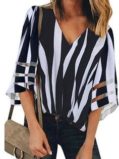 Damen Büro Tops Langarm Basic Bluse Chiffon Rundhals Drape Shirt Oberteile Locke
