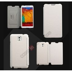 KLD Enland Series Stylish Side Flip Leather Cover Case For Samsung Galaxy Note 3 III N9000 - White US$13.99