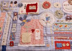Stash Findings Jenny Hubbard, love this.it would make a nice mini quilt Patch Quilt, Applique Quilts, Embroidery Applique, Scrap Fabric Projects, Fabric Scraps, Sewing Projects, Sewing Ideas, Fidget Blankets, Fidget Quilt