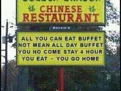 I can't decide what is more funny, the sign or the thought someone was staying and eating all the food...hahaha