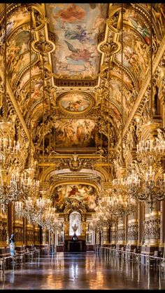 Palais Garnier Grand Foyer  Chateau -de-luxe
