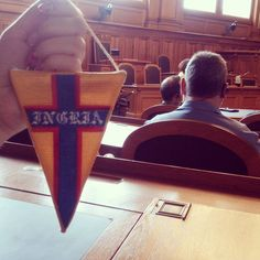 "This post is for those who are in the subject and understand the subtle symbolism. Pennant football club ""Ingria"" has found its place in the Swiss Parliament) #schweiz #bern # Bern Switzerland # # # Ingria fkingriya #ingria"