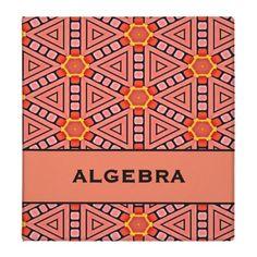 ALGEBRA - great printed binders!
