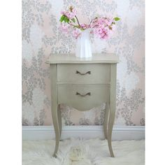 Normandy 2-Drawer Bedside Table by The French Bedroom Company