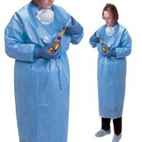 Covidien Kendall ChemoPlus Poly-Coated Impervious Gowns, X-Large,  Closed Back,  Med Blue, 30/Case, CT5504 - http://healthandsciencestore.com/HealthStore/covidien-kendall-chemoplus-poly-coated-516691271/