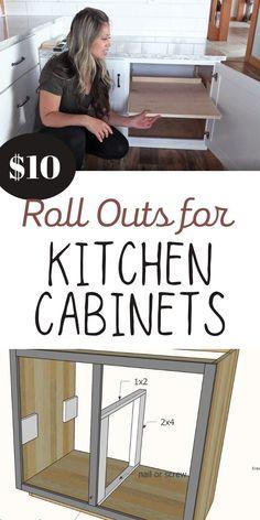 Inside Kitchen Cabinets, Building Kitchen Cabinets, Diy Cabinets, Kitchen Redo, Kitchen Storage, Kitchen Design, Redoing Kitchen Cabinets, Organizing Kitchen Cabinets, Kitchen Cabinet Shelves