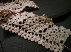 Wide Scallop crochet stitch pattern