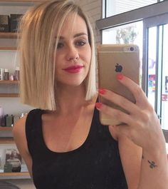 Blunt cut Blonde Bob. More
