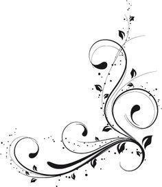 squiggly lines clip art Stencil Patterns, Stencil Designs, Quilting Patterns, Quilting Designs, Swirl Design, Border Design, Motif Arabesque, Vine Tattoos, Clip Art